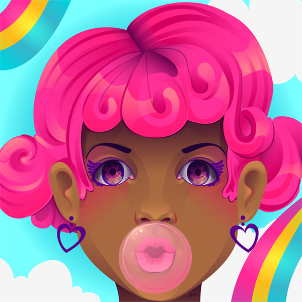 Link toHow to create a colorful stylized portrait in adobe illustrator