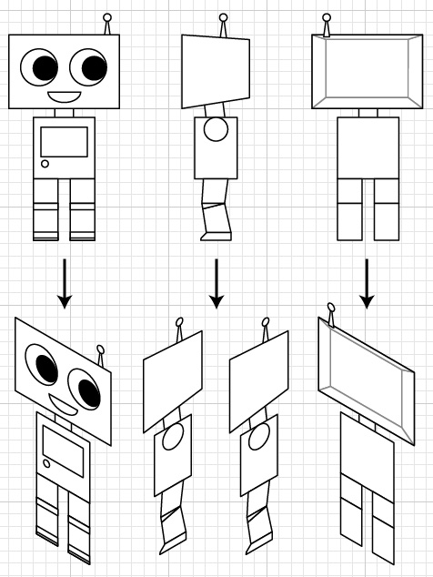 how to create a cute robot game sprite using ssr in adobe