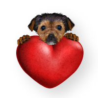 Preview for How to Create a Cute Valentine's Puppy with Gradient Mesh in Adobe Illustrator