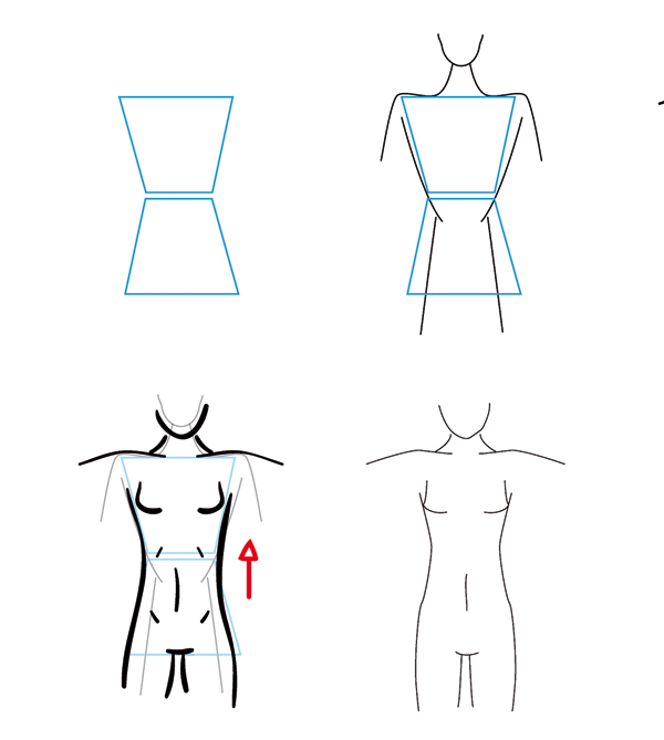 Otherwise you can also detach the upper body lines from the lower body and then add more length manually in the waist itself by drawing longer lines