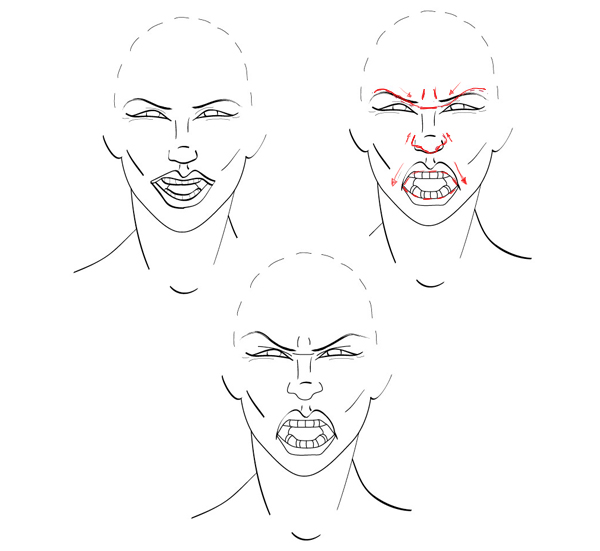 Quick tip: how to draw facial expressions to show emotion ...