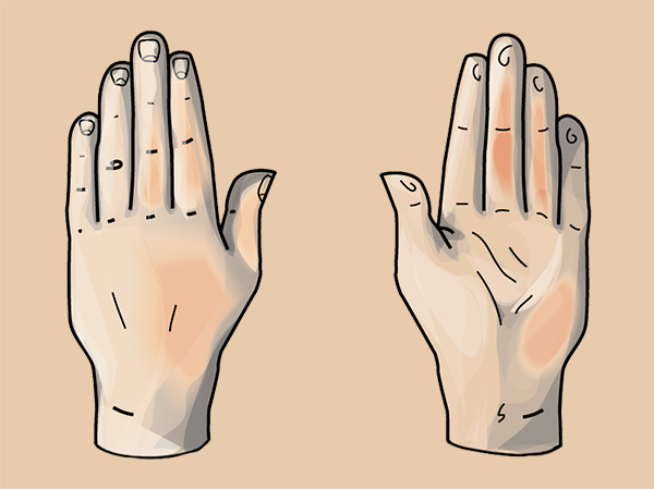 Quick tip: how to draw a hand based on geometric shapes