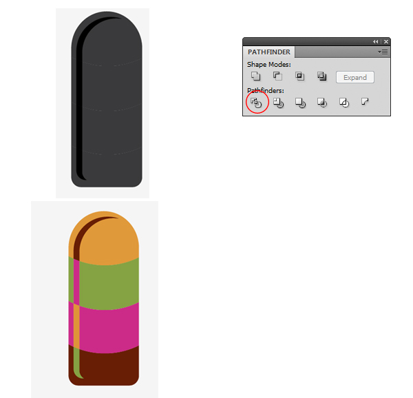 how to make a shape two colors in illustrator