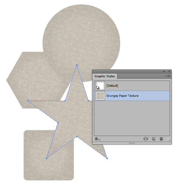 Link toQuick tip: how to create a grunge paper texture graphic style in illustrator
