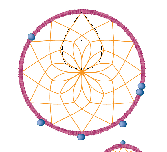 How to create a vector dream catcher with brushes in adobe for Dreamcatcher weave patterns