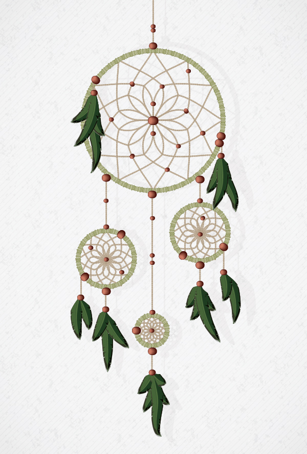 Link toHow to create a vector dream catcher with brushes in adobe illustrator