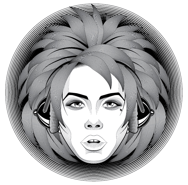 Line Art Effect Photoshop : How to create a line art based symmetrical portrait in