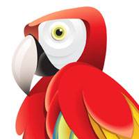 Preview for How to Create a Colorful Parrot using Gradients in Adobe Illustrator