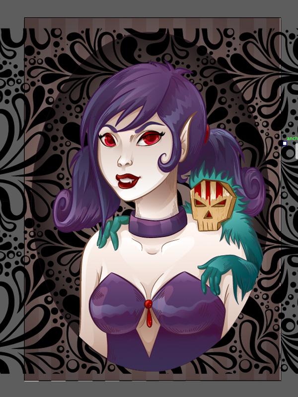 Vampiress_Background_Oval_Adding_Texture