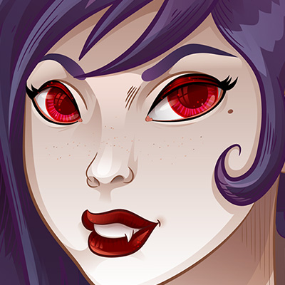 Preview for Create a Feisty Female Vampire and Her Pet in Adobe Illustrator