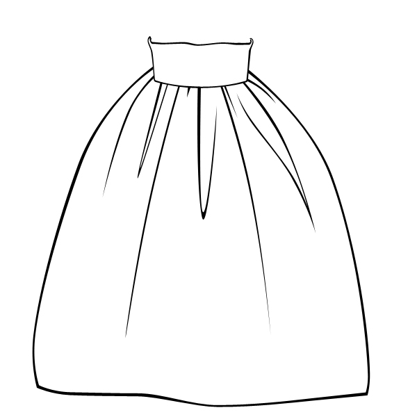 Image Gallery Skirt Drawing