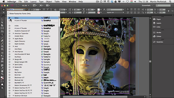 What's New With Adobe InDesign CC: The New Font Selector