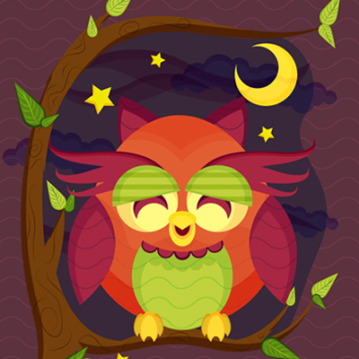 Preview for Create a Resting Owl Scene With Brushes and Pattern in Adobe Illustrator