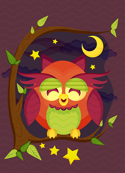Link toCreate a resting owl scene with brushes and pattern in adobe illustrator