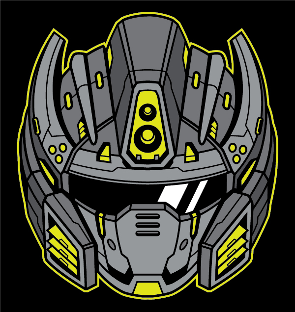 Link toCreate a futuristic robot helmet in a line art style in adobe illustrator