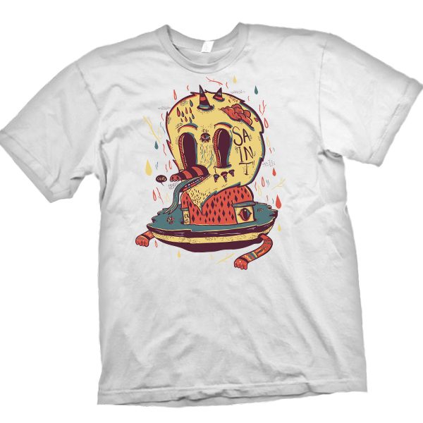 create a five color t shirt design ready for print in
