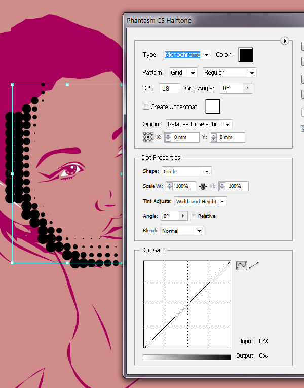 how to create halftone backgroundillustrator