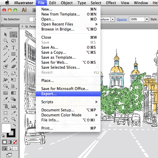 Link toQuick tip: exporting to other file formats in adobe illustrator