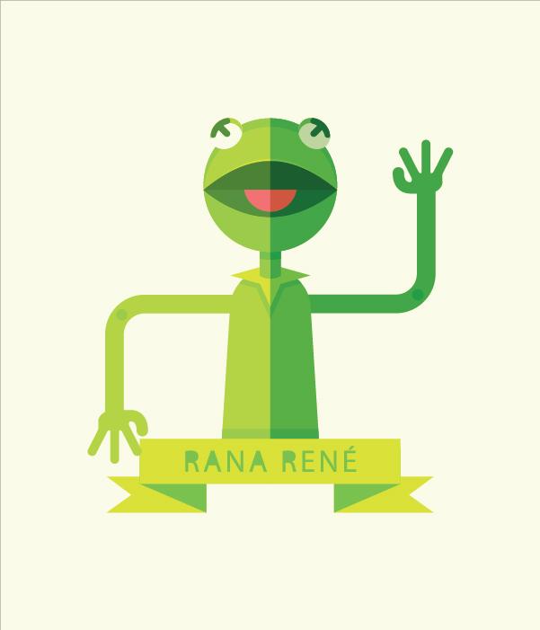 create a geometric kermit the frog illustration in adobe