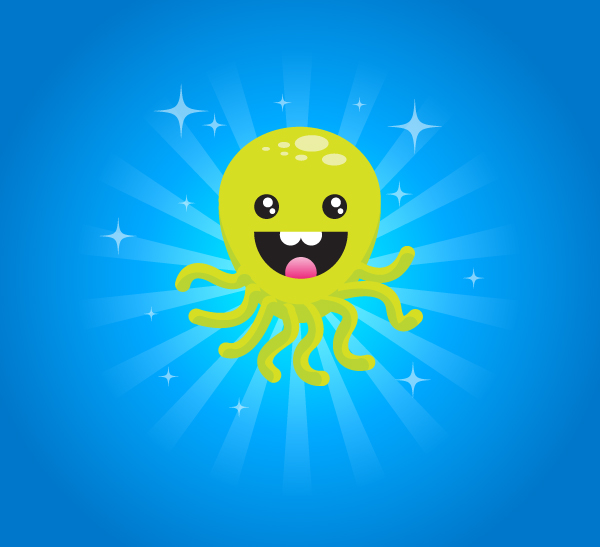 Link toCreate a super happy octopus character