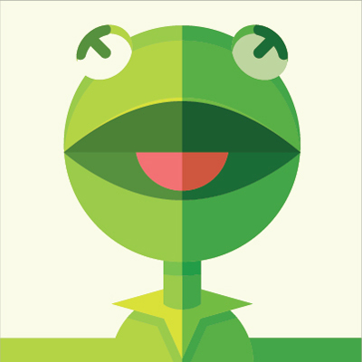 Preview for Create a Geometric Kermit the Frog Illustration in Adobe Illustrator