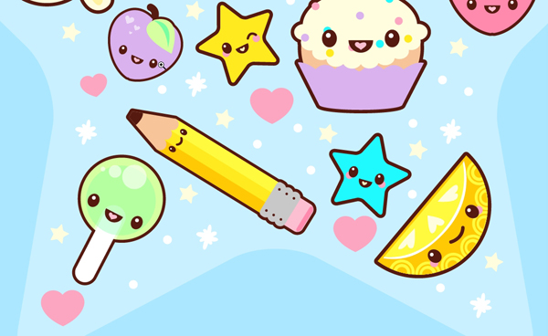 How To Create A Super Kawaii Collage In Adobe Illustrator