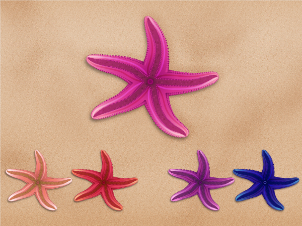 Link toCreate a series of colorful vector starfish in adobe illustrator