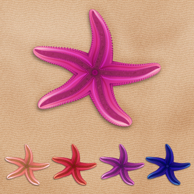 Create a Series of Colorful Vector Starfish in Adobe Illustrator