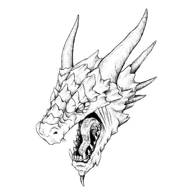How To Draw A Dragon Head How to Draw a Realisti...
