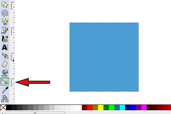 inkscape gradient tool