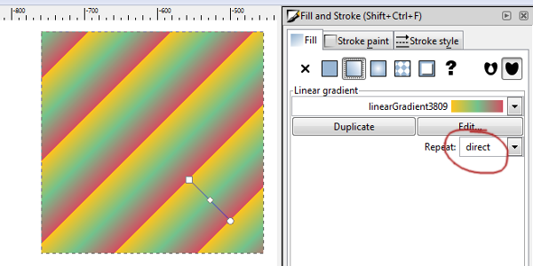 gradient repeat direct