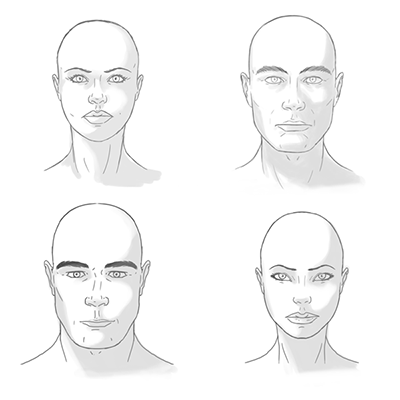 how to draw two characters with different proportions