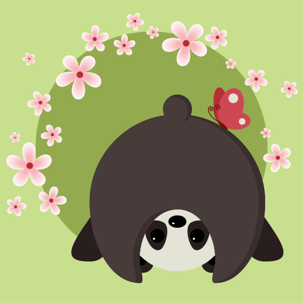 Cute Character Design Illustrator : Create a cute and simple panda with basic shapes in adobe