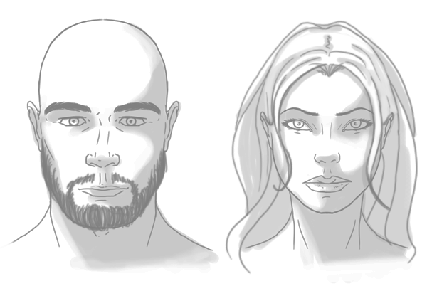 Line Drawing Male Face : The differences between male and female portraits