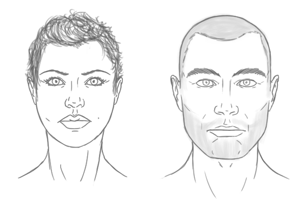 Drawing Hairlines : The differences between male and female portraits