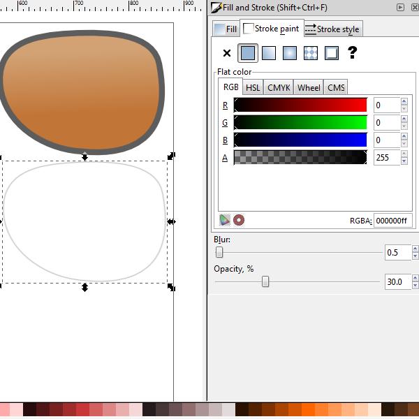 copy the lens shape