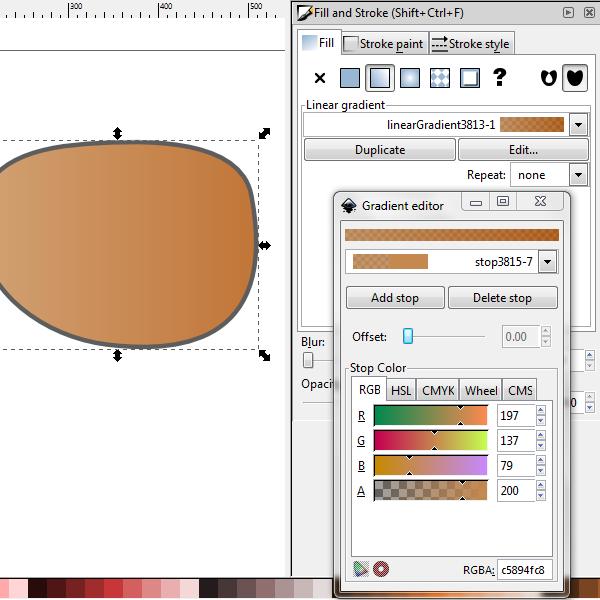 linear gradient fill