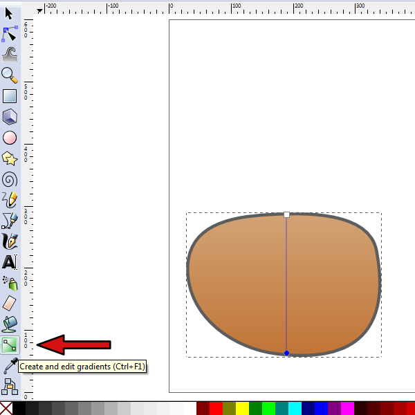 adjust gradient angle
