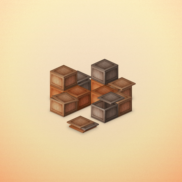 Link toCreate a stack of wooden boxes in adobe illustration