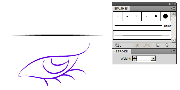 how to change line thickness in illustrator