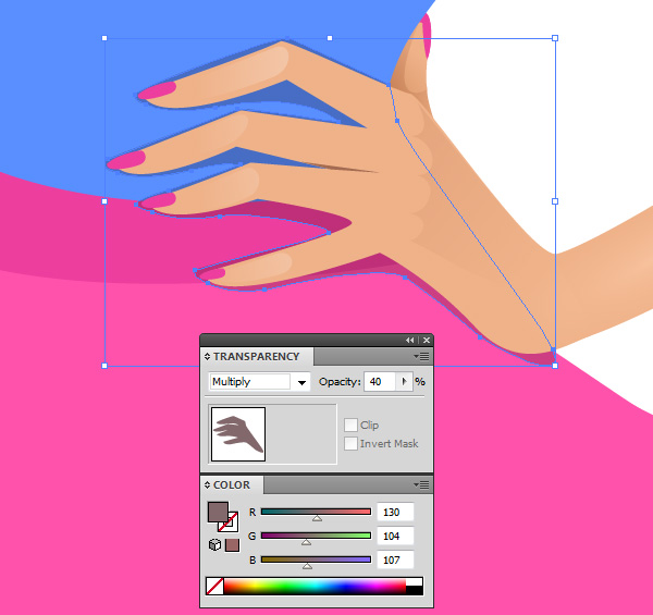 how to add a colour overlay in illustrator