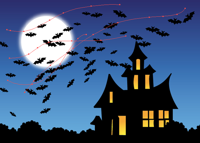 Quick tip: create a bat scatter brush in adobe illustrator