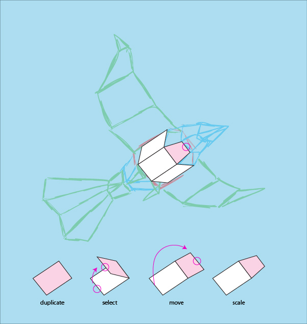 create a 3d paper bird with geometric shapes in adobe illustrator over millions vectors stock. Black Bedroom Furniture Sets. Home Design Ideas
