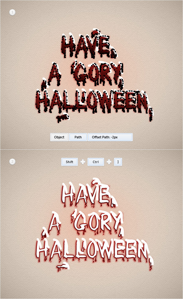 Blood Text Effect