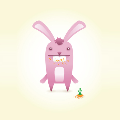 Preview for How to Create a Cute Bunny Vector Character