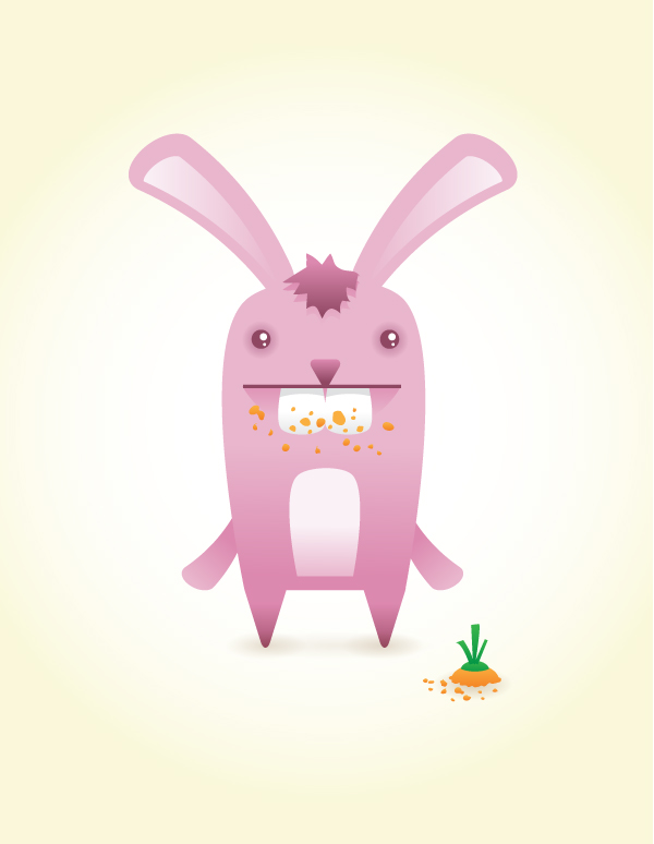 Link toHow to create a cute bunny vector character