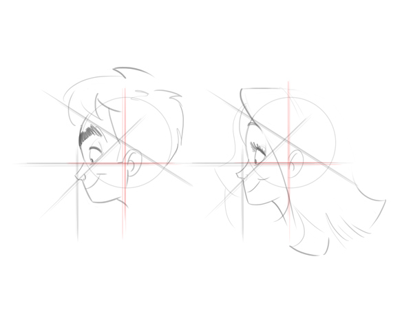 draw a cartoon face tutorial