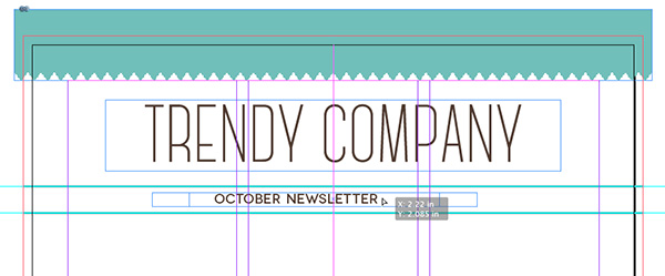 center align october newsletter textbox