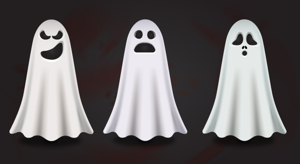 Create a quick and easy set of spooky ghosts in adobe illustrator