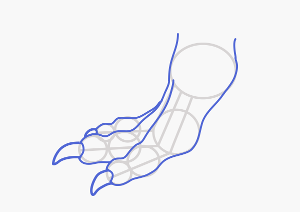how to draw a dragon foot